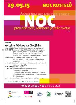 Program Noci kostelů ve chvojínském kostele ke stáhnutí v PDF.