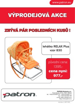Výprodejová akce RELAX Plus