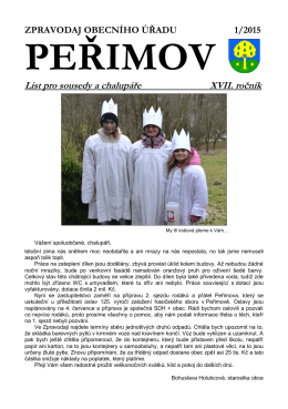1/2015 - Obec Peřimov