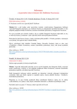 Informace z kyperského tisku