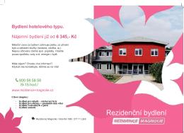 Rezidenční bydlení Rezidenční bydlení