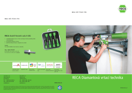 RECA diamantova vrtaci technika