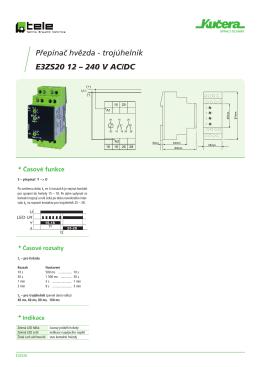 Přepínač hvězda - trojúhelník E3ZS20 12 – 240 V AC/DC
