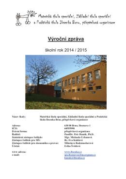 1 Vyrocni zprava text 2014_2015_komplet