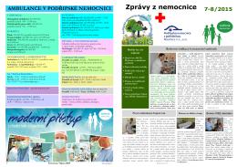 Červenec, Srpen 2015 - Podřipská nemocnice s poliklinikou