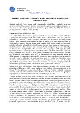 Směrnice o bakalářské práci