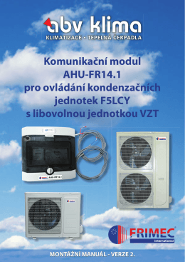 Komunikační modul AHU-FR14.1 pro ovládání kondenzačních