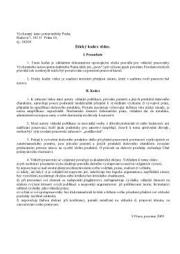 Etický kodex vědce.