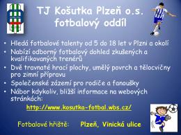 TJ Košutka Plzeň o.s. fotbalový oddíl