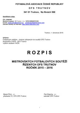 rozpis soutěží 2015/2016 - Okresní fotbalový svaz Trutnov