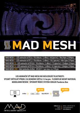 MAD MESH 7 LED animační síť R7,2