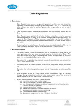 Reklamační řád Sinfo platná verze od 1.4.2015 EN