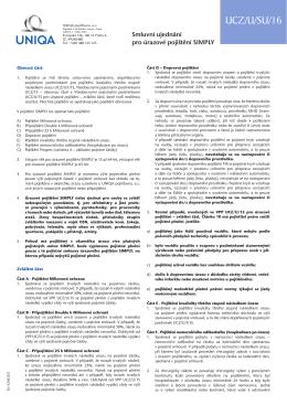Smluvní ujednání pro úrazové pojištění SIMPLY UCZ/U/SU/16