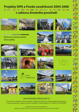 Projekty ISPA a Fondu soudržnosti 2004