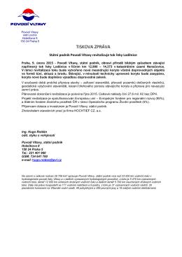 9.2.2015 Státní podnik revitalizuje řeku Loděnice