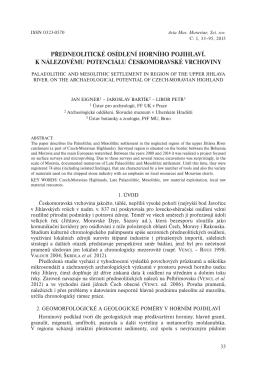 předneolitické osídlení horního pojihlaví. k nálezovému potenciálu