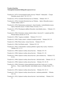 Švendová Kateřina Nekompletní botanická bibliografie (zpracovává