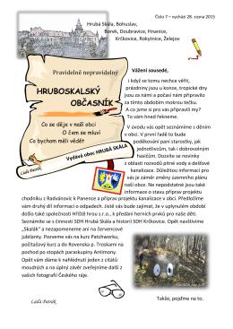 hruboskalský občasník - Vítejte na oficiální stránkách obce Hrubá