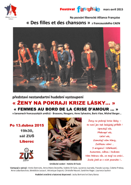 Des filles et des chansons » z francouzského CAEN představí