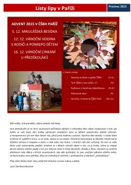 Newsletter Listy lípy v Paříži 11_prosinec 2015
