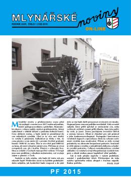 Mlynářské noviny 1_2015 - Svaz průmyslových mlýnů ČR