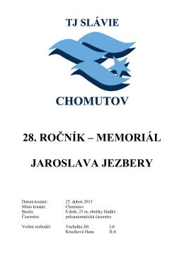 28. ROČNÍK – MEMORIÁL JAROSLAVA JEZBERY