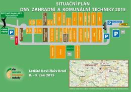situační plán dny zahradní a komunální techniky 2015
