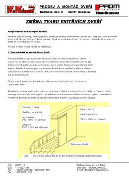 PRÜM - změna tvaru vnitřních dveří