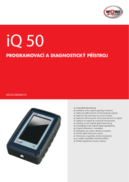 programovací a diagnostický přístroj