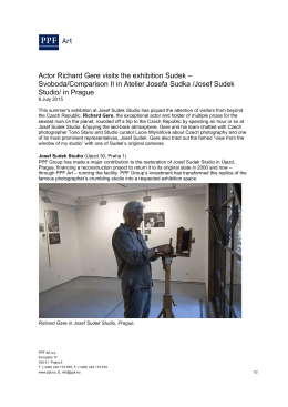 Actor Richard Gere visits the exhibition Sudek – Svoboda