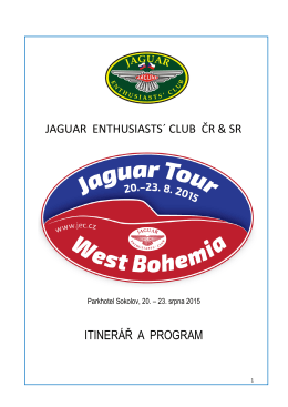 JAGUAR TOUR WEST BOHEMIA itinerář a program