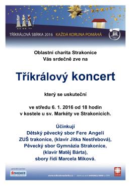 Tříkrálový koncert 2016