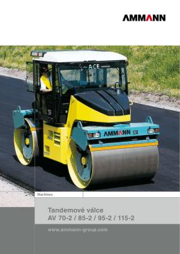 Prospekt: tandemové silniční válce AV