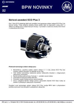 Sériové zavedení ECO Plus 3 od 1.10.2015