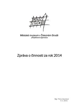 Výroční zpráva 2014 - Městské muzeum v Železném Brodě