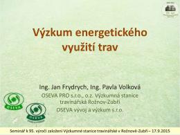 Název přednášky - OSEVA vývoj a výzkum s.r.o.