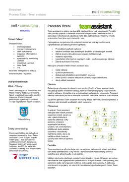 Datasheet - Team assistant