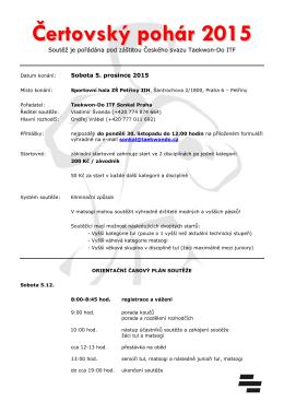 Propozice Třeboň Open 2009 - Český svaz Taekwon