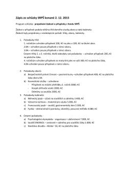 Zápis ze schůzky SRPŠ konané 2. 12. 2015