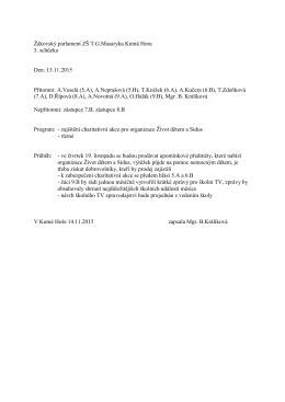 Zápis z 5.schůzky - ZŠ TG Masaryka, Kutná Hora