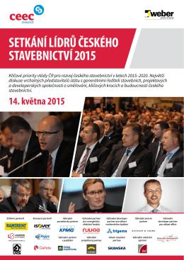 SETKÁNÍ LÍDRŮ ČESKÉHO STAVEBNICTVÍ 2015