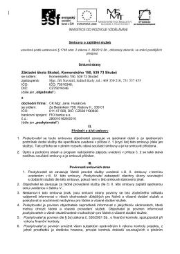 Základní škola Skuteč, Komenského 150, 539 73 Skuteč Mgr. Jiří