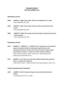 JANEČEK, P. (2008) - Ústav etnologie