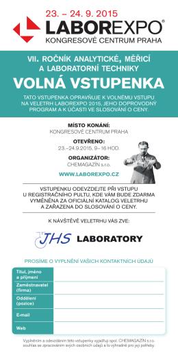 VOLNÁ VSTUPENKA - lab