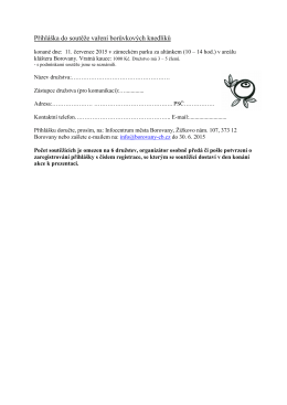 Přihláška do soutěže vaření pdf