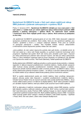 Společnost GLOBDATA bude v Ústí nad Labem zajišťovat nákup