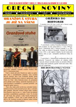 Obecní noviny č. 13-2015