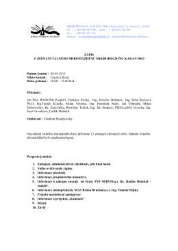 Zápis z jednání VS MR Kahan dso 05.03.2015