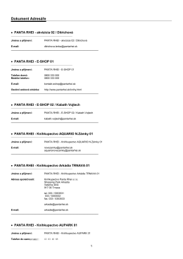 Seznam prodejcu2 (Shop list 2