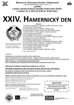 Hamernický den 2015 - Muzeum Dr. Bohuslava Horáka v Rokycanech